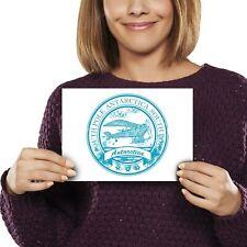 A5 - Antarctica South Pole Travel Stamp Print 21x14.8cm 280gsm #5942