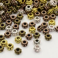 50 x Premium Daisy Spacer Beads - Mixed Gold Silver Bronze 5mm