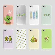 iPhone Samsung Hard Phone Case Cactus Avocado Kawaii Cacto Flower Funny Quotes