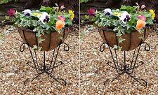 2 X Renaissance Patio Urn Planters - Garden Basket Flower Plant Pot Container