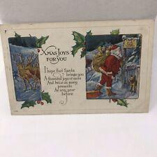 Vintage Postcard Christmas Greetings 1933 Missoula Montana