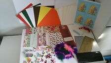 HUGE CARD MAKING CRAFTING  PACK (A) -  Card, Paper, Stickers, Embellishments,