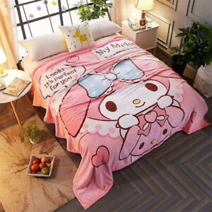 Melody Flannel Blanket Bed Sheet Soft Plush Quilt Pink Thicken 210X230cm