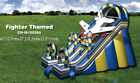 50x3035 Commercial Inflatable Fighter Water Slide Bounce House Obstacle Combo