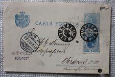 GANZSACHE - J. Jacobson BUCAREST - Meinung, OHRDRUF, Fellpferdefabrik,1898