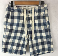 Abercrombie & Fitch NY Mens Flat Front Button Fly Draw String Shorts 28 (Fit 29)