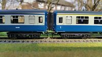 12 x 00 Gauge 4mm Bachmann / Hornby MK2 Mark2 Corridor Connector Bellows BR BLUE