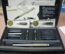 Vintage calligraphy set Pen Conv. Nibs, cartr. Book USED Free Shipping Sheaffer