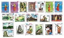 CAMBODIA - Selection of Stamps on Paper from Kiloware