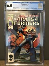 Transformers #1 CGC 6.0 White Pages 1st Autobots Decepticons 1984 (First Print)