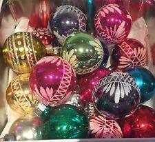 18 VIntage Pretty Mercury Glass* Christmas Tree Baubles Decorations Ornaments