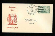 US Naval Ship Cover USS Gainard DD-706 Cold War 11/11/1947 Armistice Day Cancel