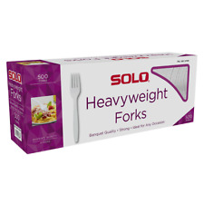 Solo Heavyweight Plastic Fork White 500 Count