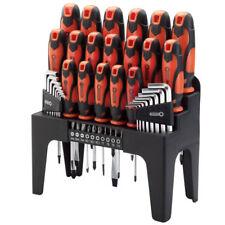 Draper 44 Piece Screwdriver Hex Key and Bit Set in Storage Stand Orange 78620