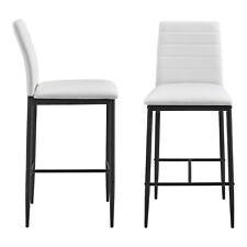 B-WARE 2x Barstuhl Barhocker Bistrohocker Küchenstuhl Stuhlset Stühle Weiß