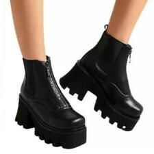 Women Fashion Motor Cleated Sole Platform Casual Ankle Boots Outdoor 42 43 44 L