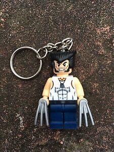 X-Men Wolverine Keyring Keychain Minifigure UK SELLER