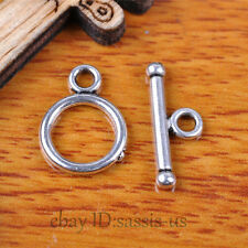 100 sets 15mm Charms OT Clasps Connector Tibet Silver DIY Jewelry Making A7305