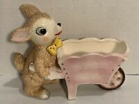 Vintage Ceramic Lamb Planter Sugar Textured Japan Mid Century Kitsch