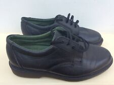 MENS SHOES by HUSH PUPPIES SIZE 7 BLACK LEATHER LACE-UP BOUNCE TECHNOLOGY