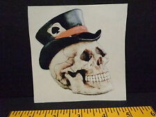 SKULL IN TOP HAT DECAL, ACE OF SPADES, RAT ROD, HARLEY CHOPPER