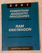2001 Dodge Ram Van Wagon Powertrain Diagnostic Procedures Repair Manual Book