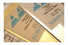 ALBION ALLOYS SM1M Laiton - Brass Sheet 100x250x0.12mm 2p