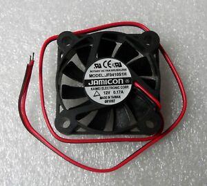 Jamicon 40mm x 10mm Fan 12V Bare Leads 40x10mm JF0410S1H Kaimei Made in Taiwan