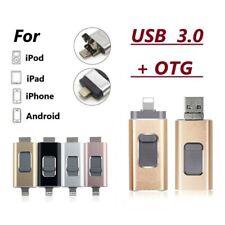 i-Flash 3 IN 1 USB Drive 128GB OTG Disk Storage Memory Stick for iPhone iPad PC