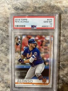 2019 Topps Series 2 #475 Pete Alonso Rookie PSA 10 QTY