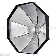 "24""/60cm Collapsible Silver Beauty Dish/Octabox Softbox Kit 2 in 1 Bowens S Fit"