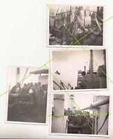 4 x Foto RAD Soldaten an Bord Schiff Überfahrt Schwimmwesten Flugzeug 2 Wk (F332