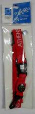 OLYMPICS ATHENS 2004 OFFICIAL RED LANYARD w/ COMPASS NEW SEALED