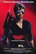 "COBRA Silk Fabric Movie Poster 24""x36"" 1986 Stallone Rocky Rambo"