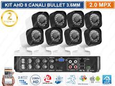 KIT VIDEOSORVEGLIANZA AHD DVR 8CH 8 TELECAMERE 2 MPX IR-CUT FULL HD P2P OSD UTC