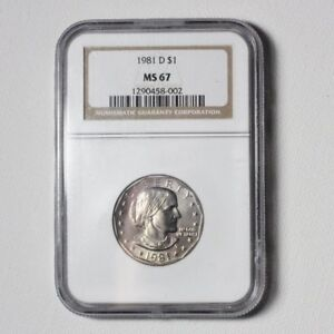 1981 D Susan B Anthony NGC MS67  ***Rev. Tye's Stache*** #8002225A