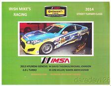 2014 Irish Mike's Racing Hyundai Genesis St Cota Imsa Ctsc postcard