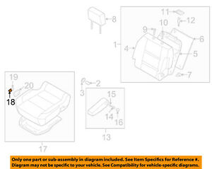 NISSAN OEM Front Seat-Cushion Assembly Knob 870127S001