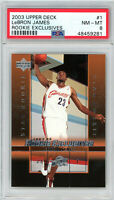 LeBron James Cleveland Cavaliers 2003 Upper Deck Exclusives Rookie Card #1 PSA 8