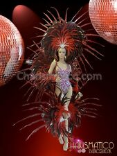 CHARISMATICO hot samba dance costume with feathery wings for a superb look