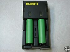 2 SONY US 18650 VTC4 HIGH DRAIN 30A RECHARGEABLE BATTERY +  NITECORE i2 CHARGER