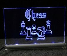 Chess LED Illuminated Sign Chess Board Game Chess Computer tournament