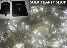 2x 200 LED Solar Fairy Garden Wedding Xmas Lights Cool White Clear String