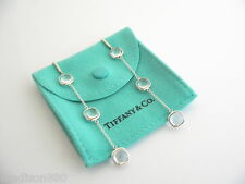 Tiffany & Co Silver Picasso Rock Crystal Triple 3 Drop Dangling Dangle Earrings