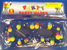 Happy Birthday Carnival Party Favor Masquerade Paper Eye Masks - Smiley Snowmen