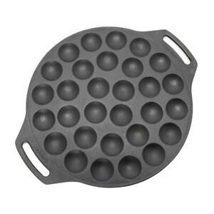 Poffertjespfanne Petromax Gusseisen Pfanne für 30 Poffertjes Mini Pfannkuchen