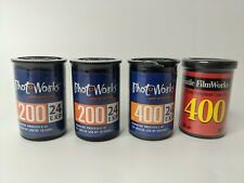 New Listing35mm Color Print Film PhotoWorks 200 400 24 Exp Lot 4 Sealed Expired +Film Works