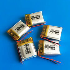 5 pcs 3.7V LiPo Battery Cells 300mAh for Headphone Mp3 Mp4 Gps Smart Band 802025