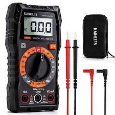 Black Digital Multimeter Kaiweets Km100 Voltage Tester Ac Dc Current True Rms
