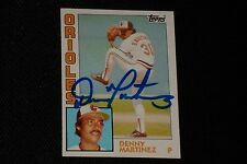 DENNIS MARTINEZ 1984 TOPPS SIGNED AUTOGRAPHED CARD #631 BALTIMORE ORIOLES